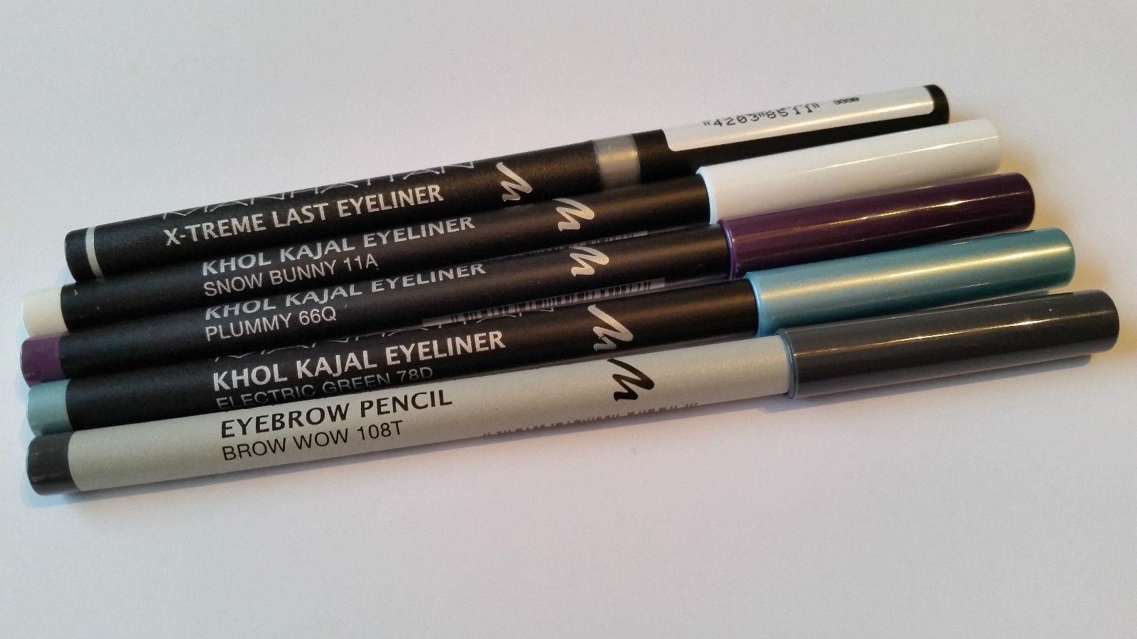 Manhattan Xtreme Last Eyeliner Khol Kajal Eye Liner Eyebrow Pencil