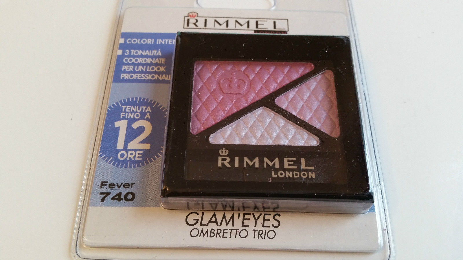 RIMMEL GLAM'EYES TRIO EYESHADOW - 740 FEVER