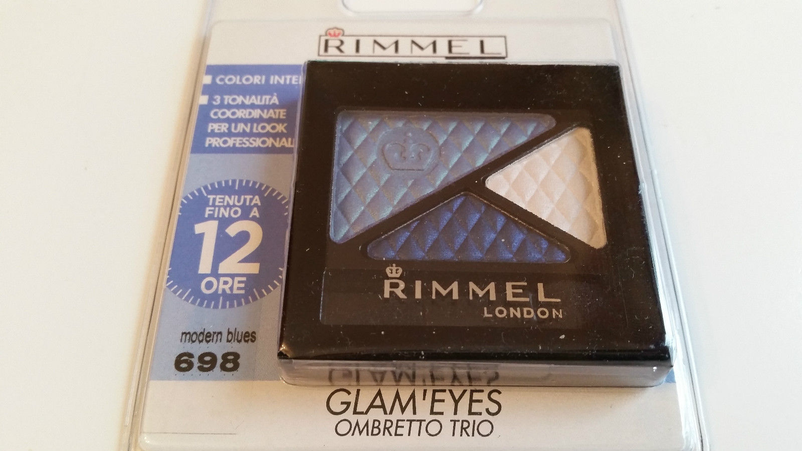 RIMMEL GLAM'EYES TRIO EYESHADOW - 698 MODERN BLUES