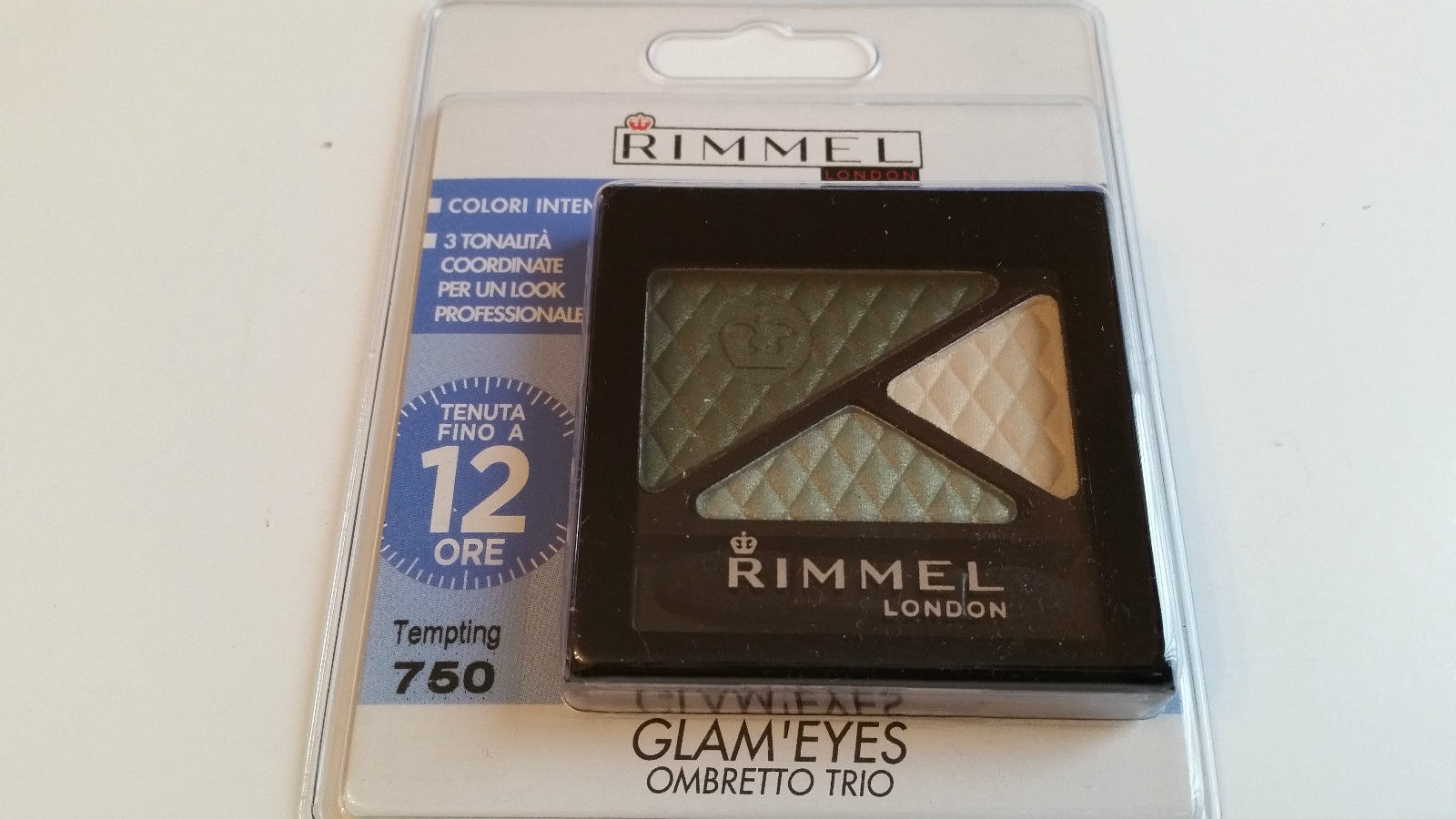 RIMMEL GLAM'EYES TRIO EYESHADOW - 750 TEMPTING