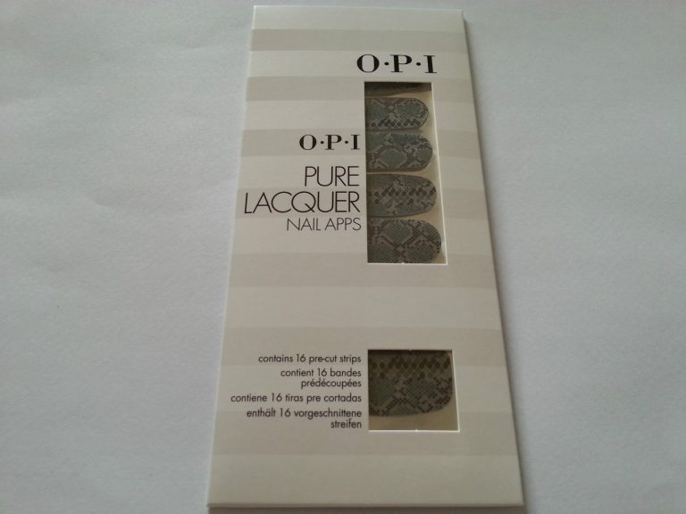 OPI PURE LACQUER NAIL APPS - 16 PRE-CUT STRIPS - AP100 BLACK-GREY RATTLESNAKE