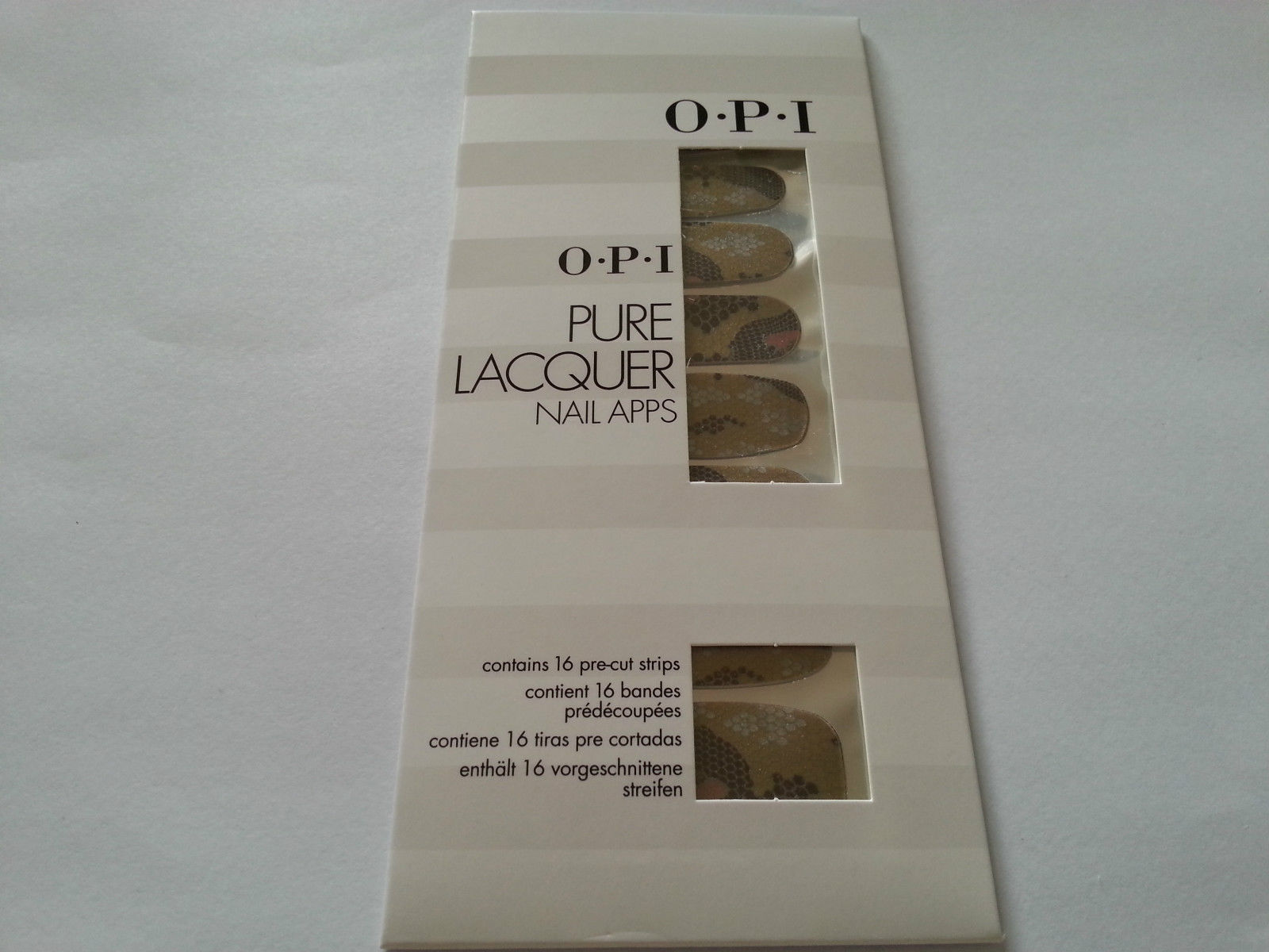 OPI PURE LACQUER NAIL APPS - 16 PRE-CUT STRIPS - AP106 REPTILE